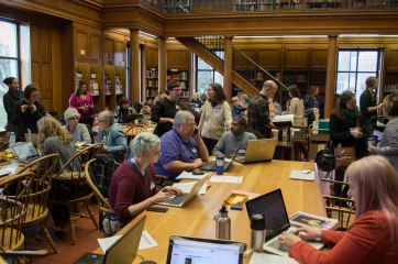 Art+Feminism Wikipedia Edit-a-thon, Frick Fine Arts Library, March 5, 2016